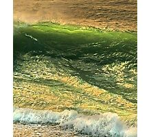 green gold Photographic Print