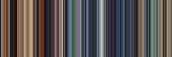 Moviebarcode: WALL·E (2008) [Simplified Colors] by moviebarcode