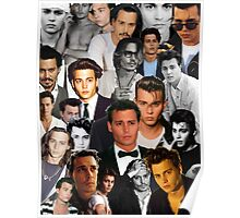 Johnny Depp Collage Poster