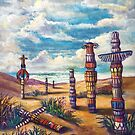 The Land of Totems by Randy  Burns