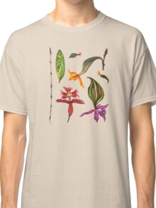 Orchids and Ink on Black Classic T-Shirt
