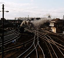 K 184 going into Spencer Street Yards Melbourne 19741299 0024 by Fred Mitchell