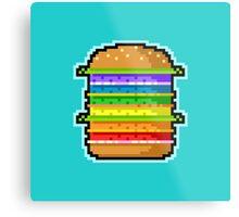 Pixel Hamburger Metal Print