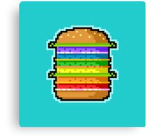 Pixel Hamburger Canvas Print