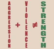 aggression and violence do not equal strength by dedmanshootn