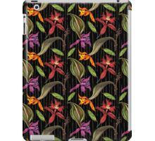 Orchids and Ink on Black iPad Case/Skin