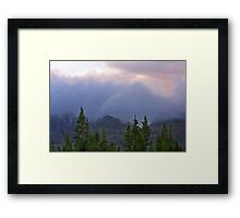 Storm Slipping Over the Mountain Framed Print