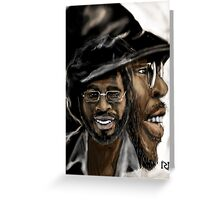 CURTIS MAYFIELD ! SUPER FLY Greeting Card