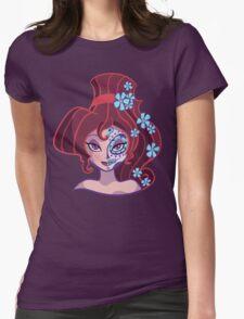 Sugar Skull Series: Little Nutmeg Womens Fitted T-Shirt