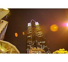 Skyscraper lightshow Photographic Print