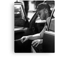 Black and white candid Canvas Print