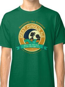 Great Pumpkin Ale Linus and Lucy Classic T-Shirt