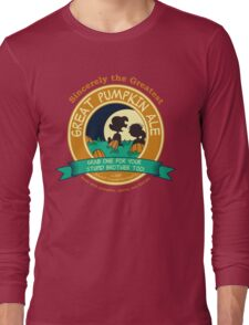 Great Pumpkin Ale Linus and Lucy Long Sleeve T-Shirt