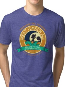 Great Pumpkin Ale Linus and Lucy Tri-blend T-Shirt