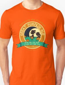 Great Pumpkin Ale Linus and Lucy Unisex T-Shirt