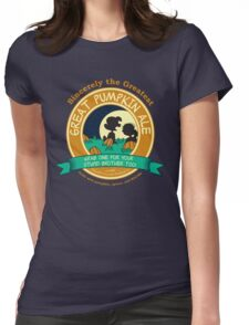 Great Pumpkin Ale Linus and Lucy Womens Fitted T-Shirt