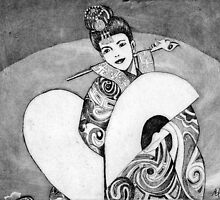 Dancer in Asian Costume by Amy Green