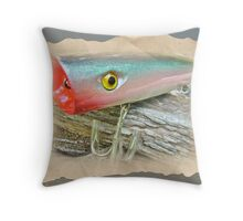 AJS Saltwater Popper Fishing Lure Throw Pillow