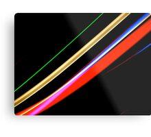 Neon Stripes Metal Print