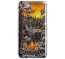 Snow at Big Lake iPhone Case/Skin