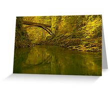 Footbridge Landscape Greeting Card