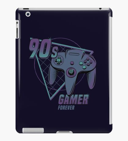 90s gamer forever iPad Case/Skin