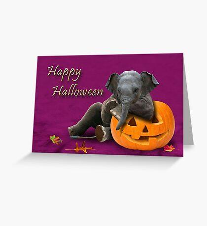 Halloween Elephant Greeting Card