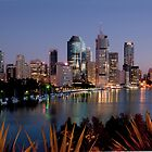 BRISBANE CITY AT DAWN by DIZZYHEIGHTS