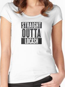 Straight Outta Locash Women's Fitted Scoop T-Shirt