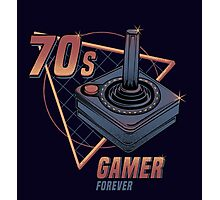 70s gamer forever Photographic Print