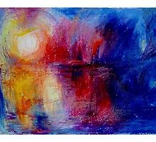 landscape fireworks of colors by Nada Orlic