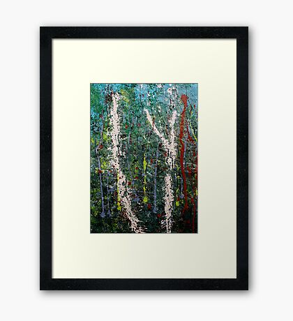 the welcome home - Blue quandongs in forest 2. Main Arm valley NSW, Astralia Framed Print