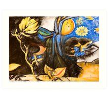 Blue and Citrus Flavour Art Print