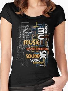 mu sic clef Women's Fitted Scoop T-Shirt