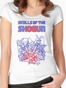 80's Arcade Skulls of the Shogun Women's Fitted Scoop T-Shirt