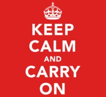 Keep Calm and Carry On - Dark Kids Clothes