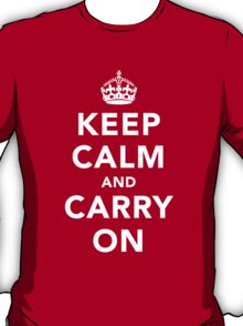 Keep Calm and Carry On - Dark T-Shirt