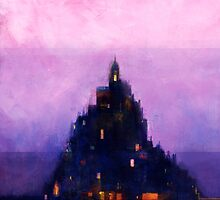Le Mont St Michel by carlydraws