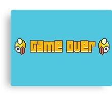 Flappy Bird Game Over Canvas Print