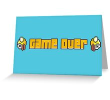 Flappy Bird Game Over Greeting Card