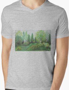 Green Arising Mens V-Neck T-Shirt