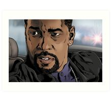 Denzel, Training Day Art Print