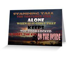 Standing Tall Alone © Vicki Ferrari Greeting Card