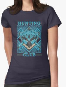 Hunting Club: Azure Rathalos Womens Fitted T-Shirt