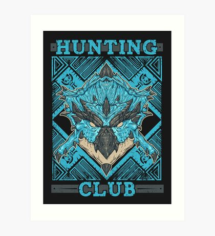 Hunting Club: Azure Rathalos Art Print