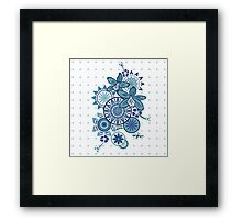 Tropical Blues Orchids & Wheels Framed Print