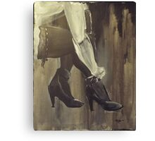 Stockings And Heels Canvas Print