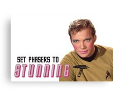 Set Phasers To Stunning Kirk Canvas Print
