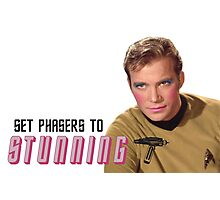 Set Phasers To Stunning Kirk Photographic Print