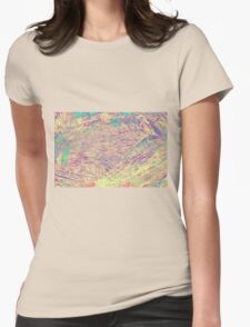 abstract wooden background Womens Fitted T-Shirt
